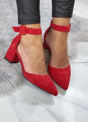 Туфли красные все размеры удобный каблук