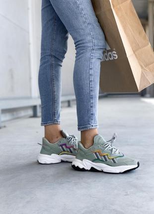 Кроссовки adidas ozweego green