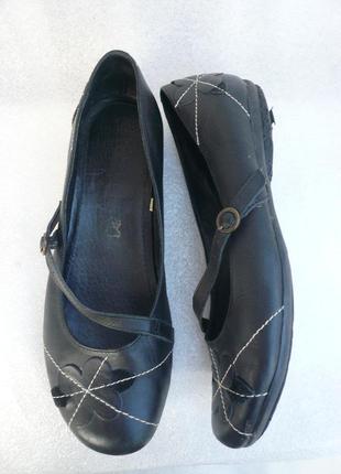 Комфортные балетки, туфли next натур кожа размер 39 стелька 25