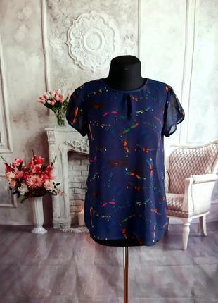 Стильная блузка шифоновая zara