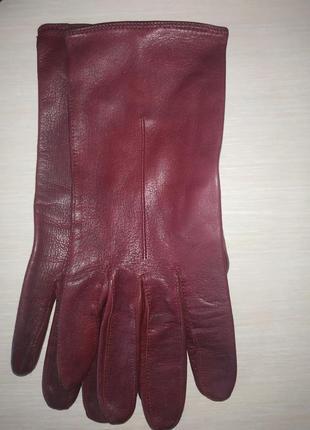 Кожаные демисезонные перчатки