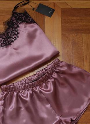 d1a6982736081 Атласная пижама женская шорты майка, цена - 175 грн, #5289289 ...