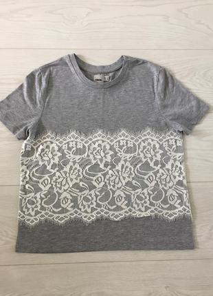 Красивая серая футболка с кружевом от asos