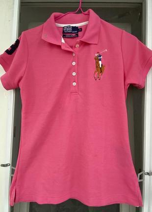 Розовый поло polo by ralph lauren