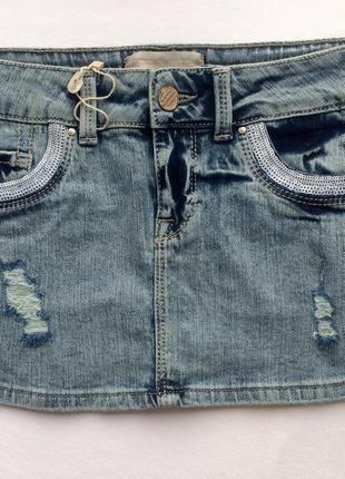 Юбка джинсовая юбка мини