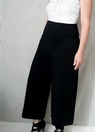 Комбинезон брюки кюлоты черно-белый разм м-л boohoo