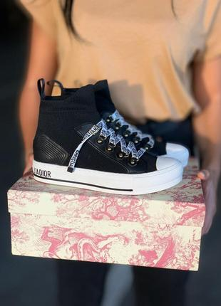 Кросівки dior walk'n'dior sneakers black  кроссовки