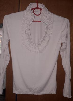 Блуза воротник стойка