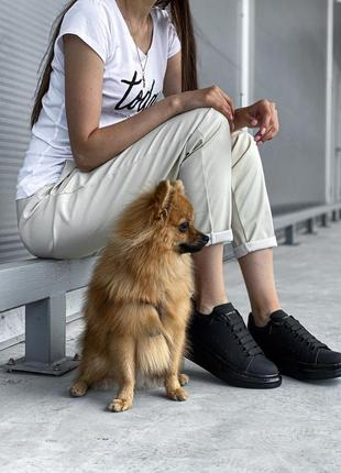 Женские кроссовки alexander mcqueen black черного цвета 😻