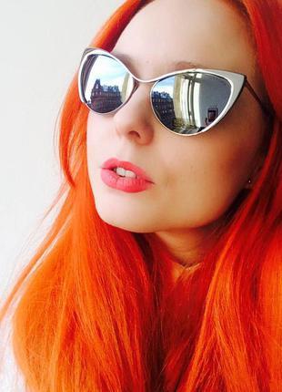 Солнцезащитные очки лисички (cat eyes)