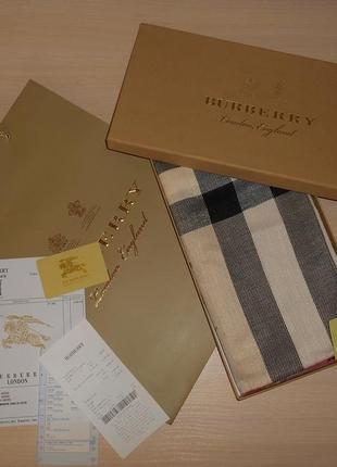 Платок шарф шаль палантин burberry, англия, оригинал