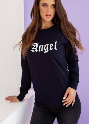 1694.    темно-синяя толстовка angel