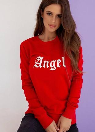 1694.    красная толстовка angel