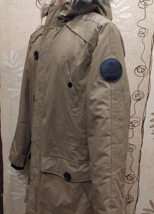 Primark мужская зимняя парка, удлиненная куртка цвета хаки