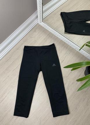 Adidas адидас женские шорты короткие велосипедки капри спорт черные оригинал