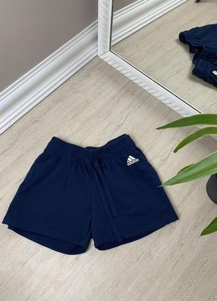 Adidas адидас женские шорты короткие велосипедки капри спорт синие оригинал