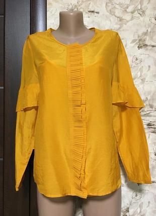 Роскошная хлопковая рубашка с шёлком sixth sense,c&a