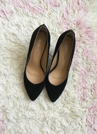 Туфли замшевые замш