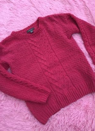 Малиновый свитер размер 8