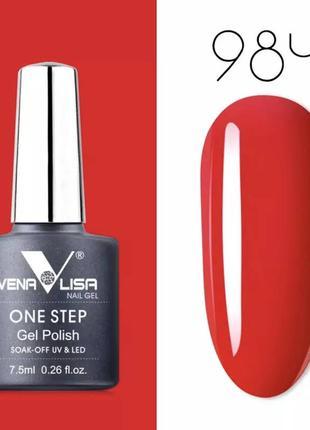 🔥 3в1 ❤️ роскошный красный ❤️ гель-лак venalisa 💅