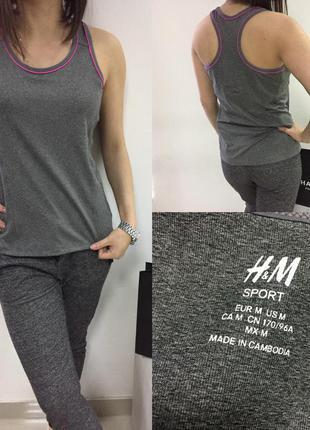 Серая майка для спорта h&m