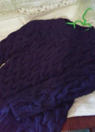 Качественный тёплый свитерок на 4 до 7 лет...новый! шерсть!