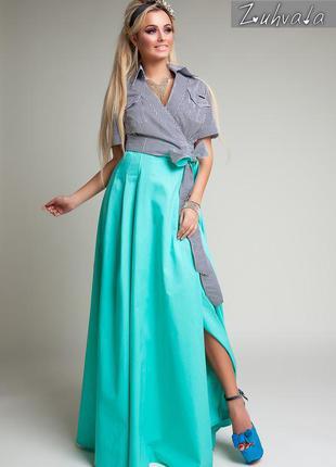 Шикарное стильное длинное платье зухвала