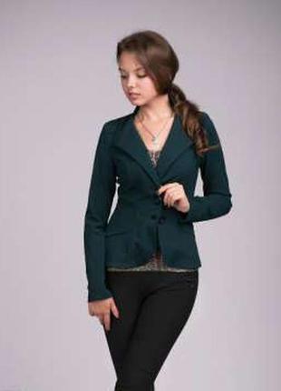 Продам пиджак темно зелёный trikobakh