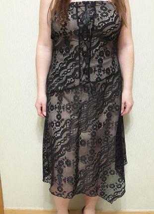 Платье topshop, гипюр