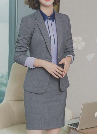 Чешский костюм двойка лён пиджак юбка карандаш шерсть тёплый официальный льняной