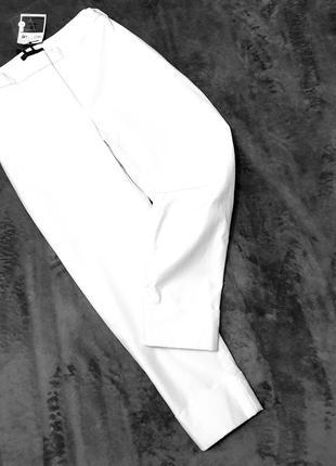 Marks&spencer autograph укороченные зауженные брюки с манжетами карманами 12 пот 42 см