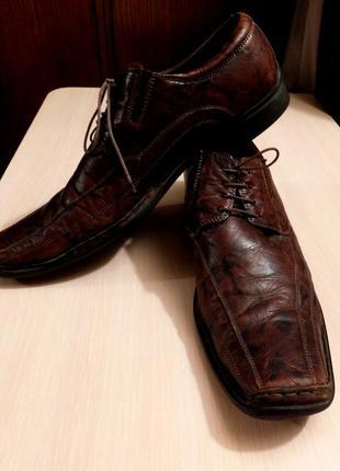 Немецкие кожаные туфли bugatti оригинал, покупали в германии
