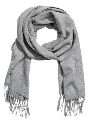 Шерстяной шарф h&m