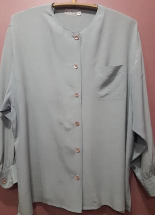 Шелковая блузка з широкими рукавами