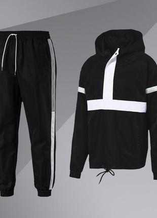 Демисезонный комплект анорак+штаны (черный)