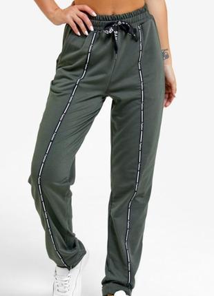 1714.    спортивные штаны цвета хаки