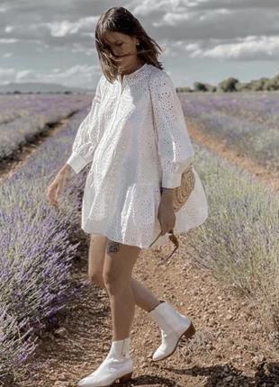 Белое платье zara