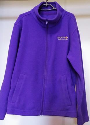 Флисовый фиолетовый реглан, кофта, поддева regatta. размер-7-8г, 128см.