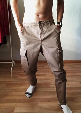 Мужские штаны карго брюки clockhouse