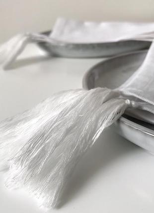 Льняные салфетки с кисточками