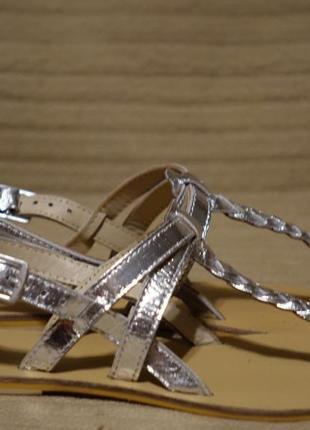 Ажурные серебристые кожаные босоножки asos англия 3 р. ( 23,1 см.)