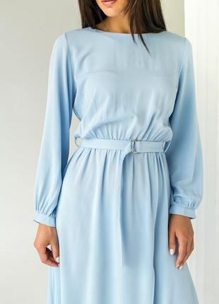 ❤️элегантное платье однотонное с пояссом ❤️