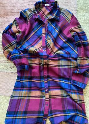 Платье рубашка next в клетку