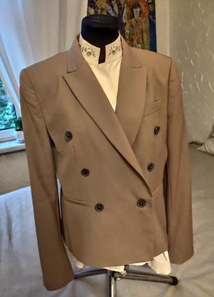 Пиджак двубортный укороченный zara