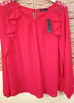 Червона блуза m&co