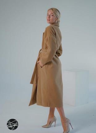 Кашемировое пальто на запах