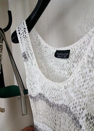 Topshop!стильное вязаное платье туника/плаття туніка