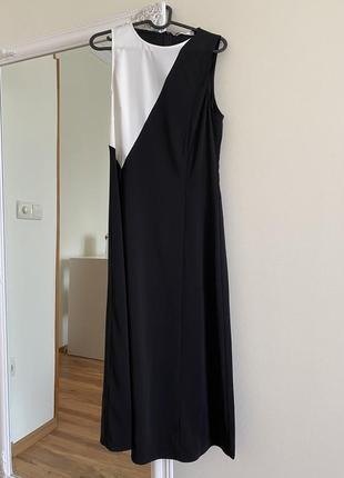 Платье платья миди mango классическое черные белое