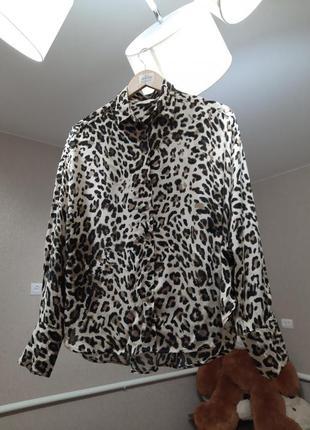 Шикарна блуза в тигровий принт