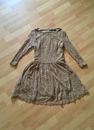 Гипюровое ажурное платье